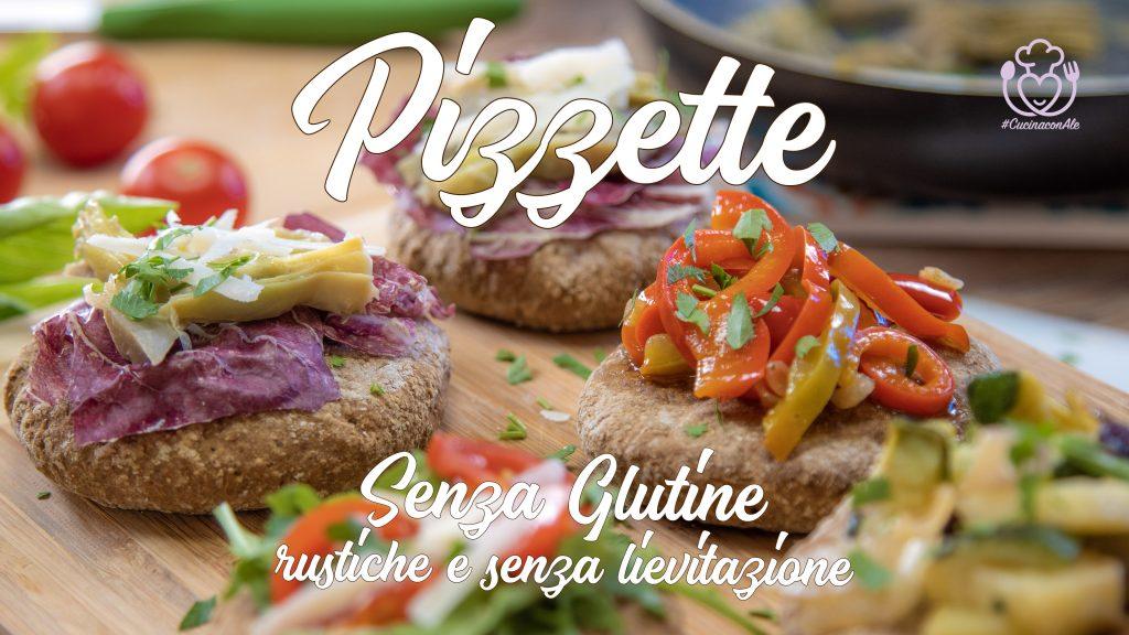 Pizzette Integrali Senza Glutine allo Yogurt Senza Lievitazione. Mini pizza alle Patate, Zucchine e Cipolla di Tropea, Carciofi e Radicchio