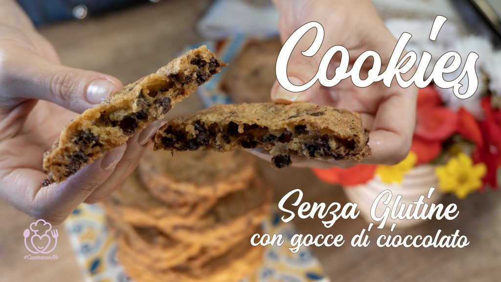 American Cookies Senza Glutine – Deliziosi Biscotti con Gocce di Cioccolato, Ricetta Facile e Veloce