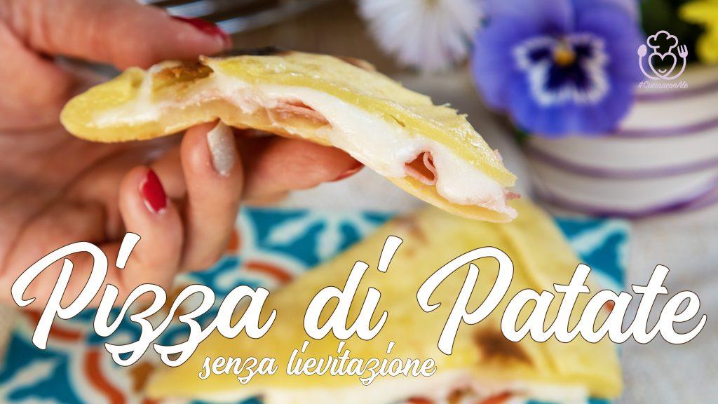 Pizza di Patate Senza Glutine Ripiena Senza Lievitazione, Velocissima in Padella o nel Fornetto Elettrico