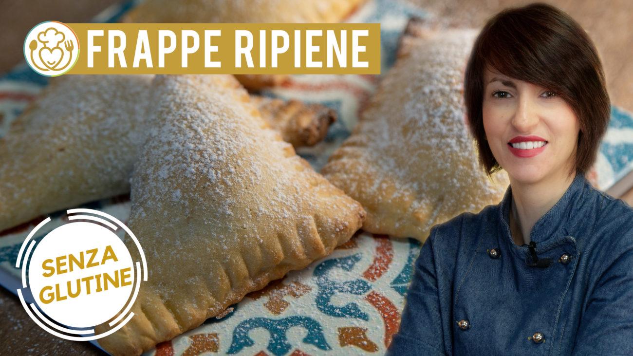Frappe Ripiene Senza Glutine con Crema al Cioccolato e Crema Pasticcera con Uvetta