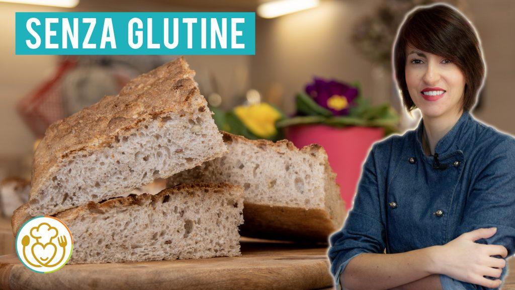 Focaccia Con Farina Integrale Senza Glutine, Grano Saraceno e Semi Misti