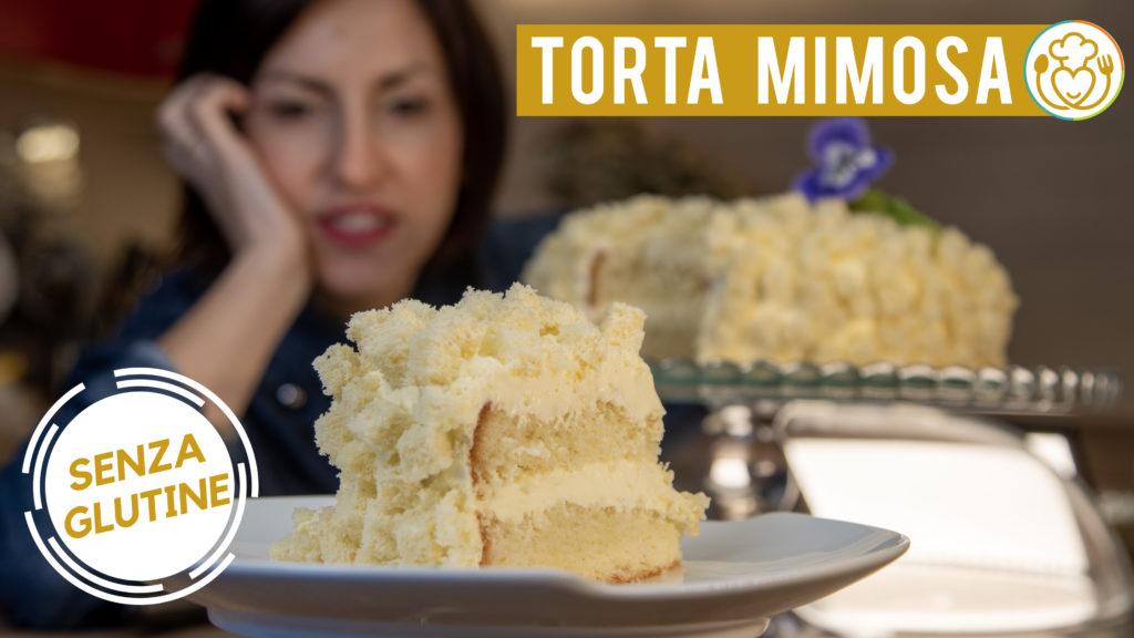 Torta Mimosa Senza Glutine e Senza Lattosio con Crema Diplomatica e Bagna al Limoncello