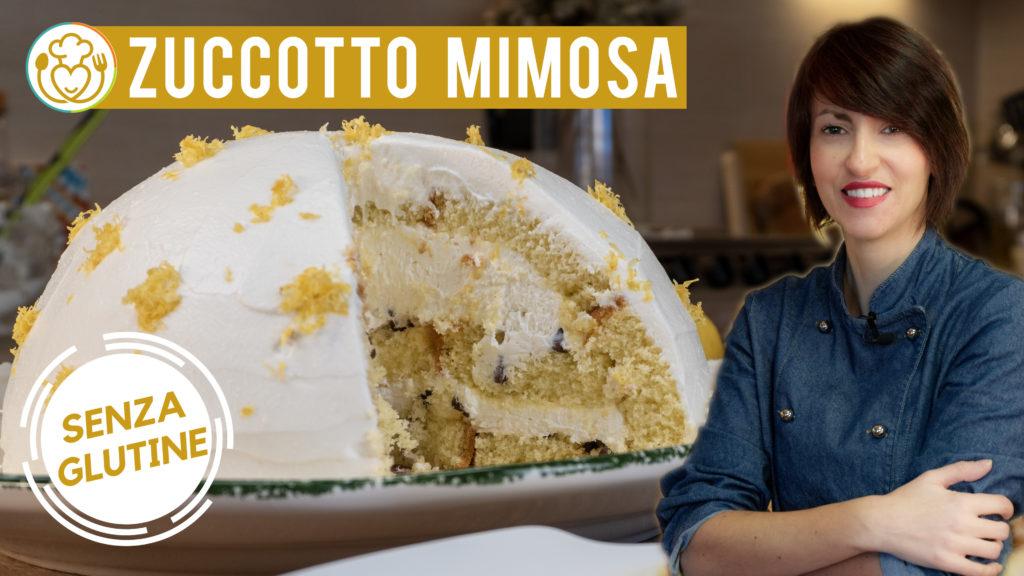 Zuccotto Mimosa 8 Marzo con Crema alla Ricotta, Gocce di Cioccolato e Rum per la Festa delle Donne