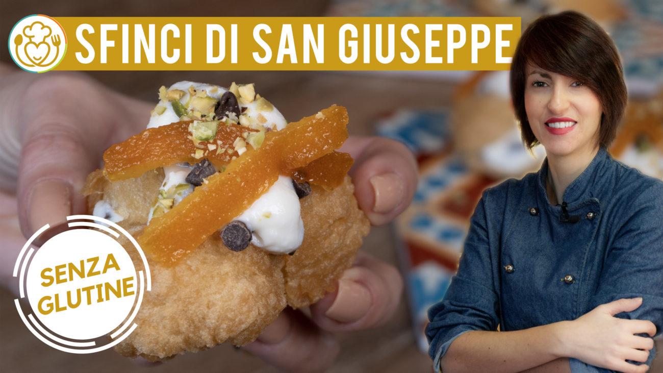 Sfince Siciliane di San Giuseppe Senza Glutine Frittelle Dolci Ripiene di Ricotta e Gocce di Cioccolato