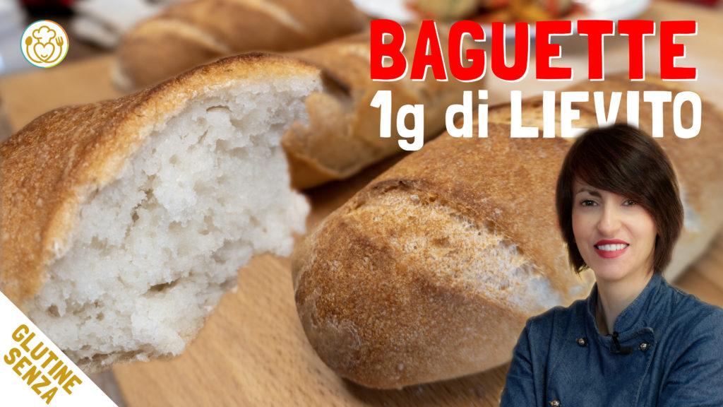 Pane a Baguette Senza Glutine con Poco Lievito (Solo 1 grammo)