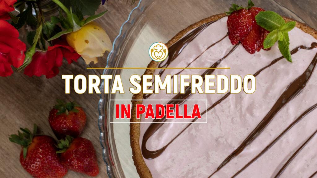 Torta Fredda Fragola e Cioccolato con Pan di Spagna in Padella