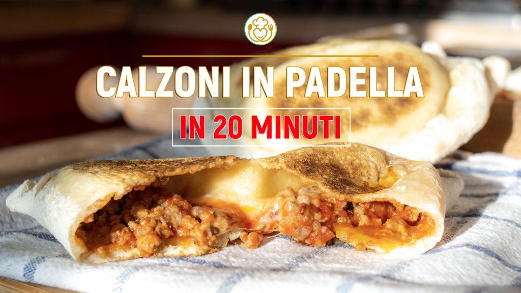 Calzoni in Padella in 20 minuti Senza Forno [Solo 4 Ingredienti – Senza Lievito]