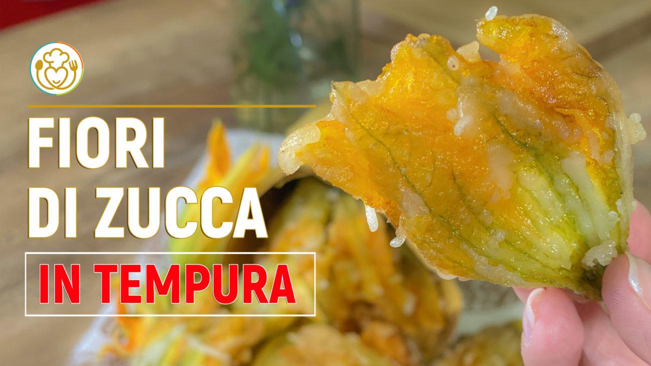 Fiori di Zucca Fritti in Tempura con Solo Farina di Riso Senza Glutine, Croccanti e Facilissimi