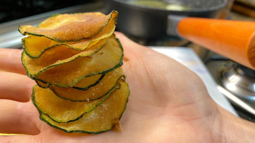 Chips di Zucchine, 3 Ingredienti in 5 minuti, Leggere e Asciutte