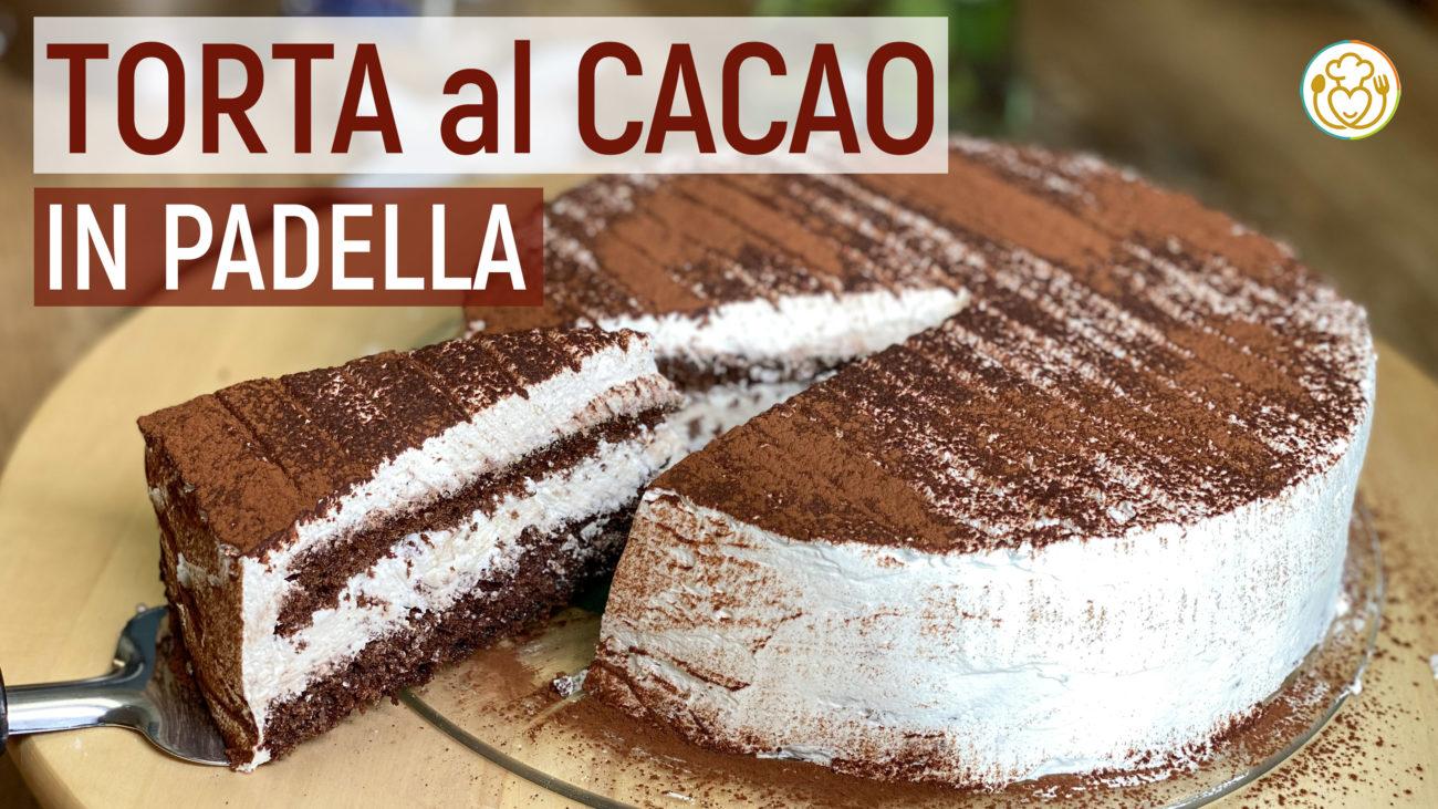 Torta al Cacao in Padella con Panna Senza Glutine, Torta delle Feste in Meno di un'Ora