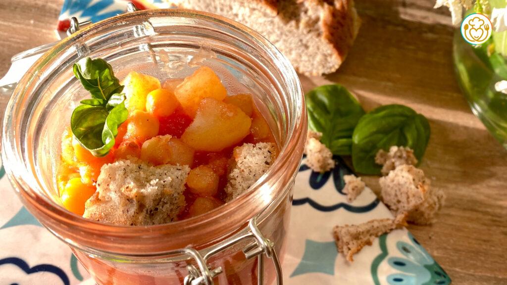 Ceci e Patate con Pane Integrale, Piatto Unico e Veloce, con Pochi Ingredienti | VivoGlutenFree