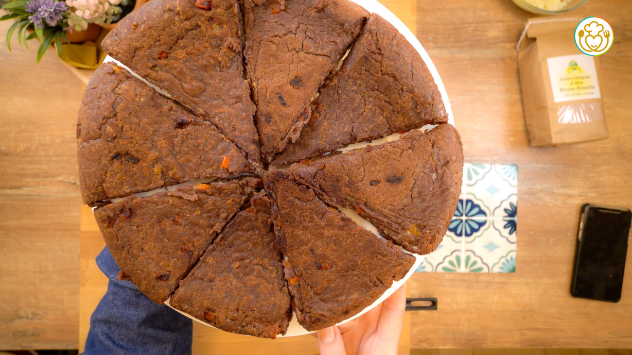 Focaccia di Patate con Farina di Riso Rosso Senza Glutine e Lievito e Peperoni
