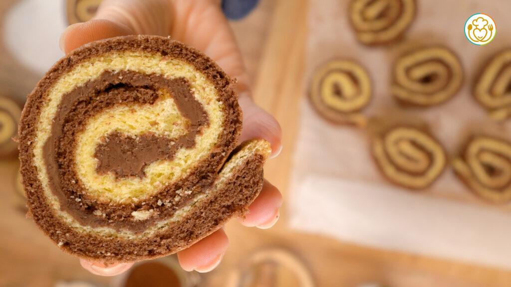 Girelle Facili Cacao e Crema di Nocciola 4 Ingredienti + 1 che hai Sempre in Casa