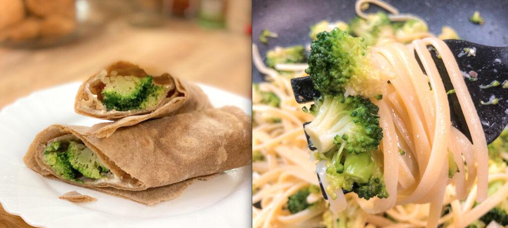 Broccoli al Microonde in 5 Minuti e Senza Odori – 2 Ricette Perfette per Utilizzarli: Linguine e Piadina!
