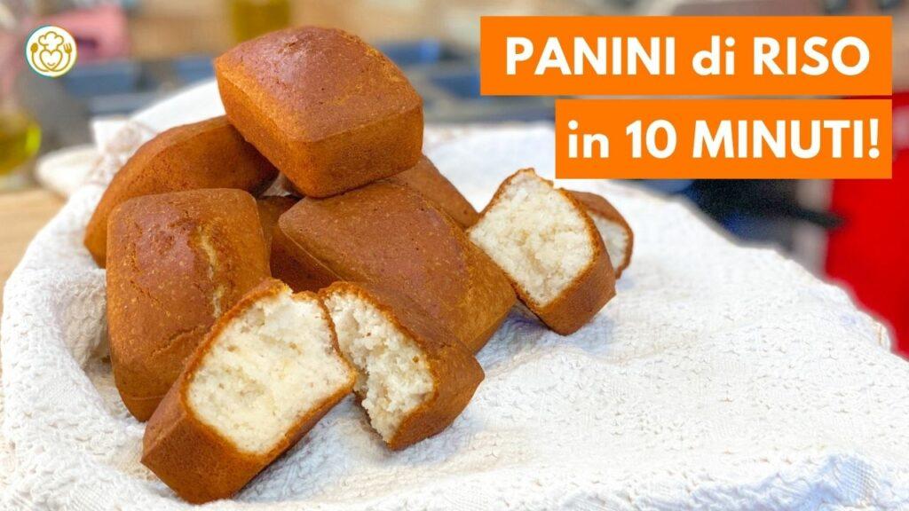 Panini al Latte Senza Glutine con Farina di Riso, Senza Lievito, Impastati col Cucchiaio